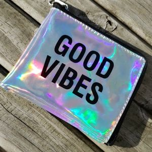 Good Vibes Pouch with Zipper NEW